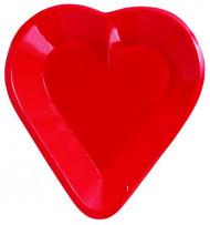 Coppetta di plastica rossa a forma di cuore