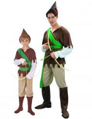 Costume di coppia da eroe del bosco per padre e figlio