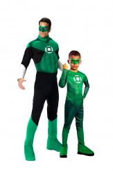 Costume di coppia padre e figlio Lanterna Verde™