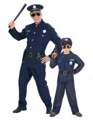 Costume di coppia poliziotto per padre e figlio