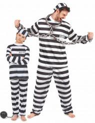 Costume di coppia da prigionieri per padre e figlio