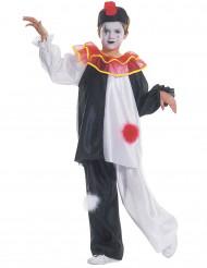 Costume da Pierrot con pompon per bambino