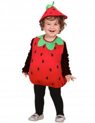 Costume senza maniche da fragola bambina