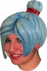 Parrucca lattice manga blu adulto