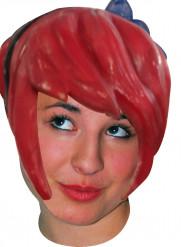 Parrucca lattice manga rosso adulto