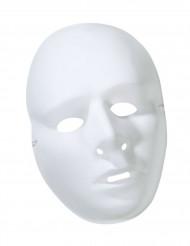 maschera bianca da decorare per adulti