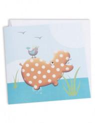 10 Cartoncini da invito Hippo