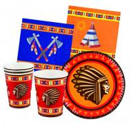 Kit per la tavola da 24 pezzi Indiani d'America