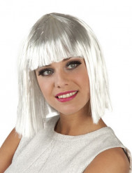 Parrucca corta bianca Donna con frangia