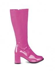 Stivali rosa brillante donna