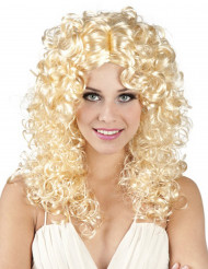 Parrucca riccia bionda e lunga per donna