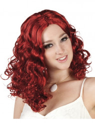 Parrucca ondulata rossa donna
