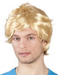 Parrucca bionda capelli corti per uomo