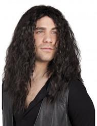 Parrucca nera uomo rocker