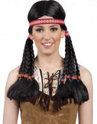Parrucca indiana con treccine donna