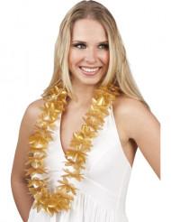 Collana di fiori hawaiana dorata