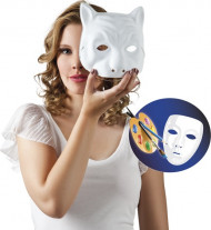 Maschera da gatto bianca