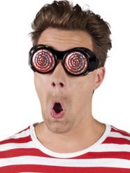 Occhiali strani a spirale per adulto