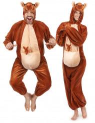 Costume da canguro con cucciolo per adulto