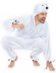 Costume tuta bianca da orso polare per adulto