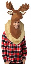 Costume da trofeo testa di cervo per adulto