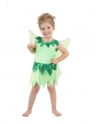 Costume da fatina in verde per bambina