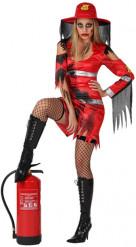 Costume Vigile del Fuoco Zombie Donna
