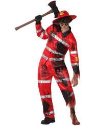 Costume Vigile del Fuoco Zombie Uomo