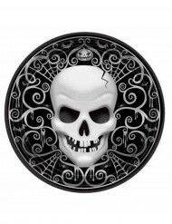 8 piatti cartone teschio Halloween