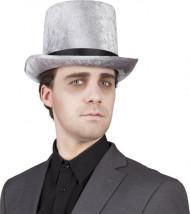 Cappello a cilindro argentato per uomo