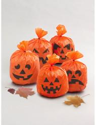 Confezione di 20 bustine zucche di Halloween