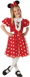 Costume Minnie™ rosso con cerchietto bambina