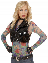 Maglia effetto tatuaggi donna