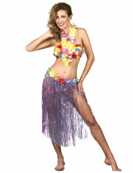 Image of Gonna Hawaiana lunga Viola Adulto