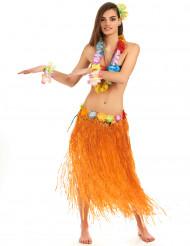 Gonna lunga Hawaiana arancione donna