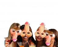 4 maschere umoristiche pene