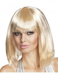 Parrucca caschetto lungo bionda donna