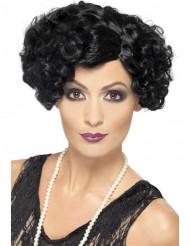 Parrucca cabaret riccia nera donna