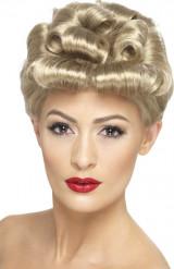 Parrucca bionda vintage da donna