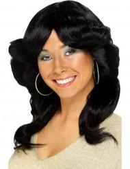 Parrucca nera anni 70 donna