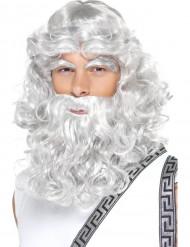 Parrucca zeus con barba uomo