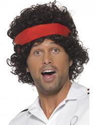 Parrucca marrone giocatore da tennis
