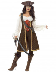 Costume pirata marrone donna