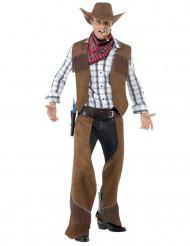 Costume cowboy in finto daino uomo