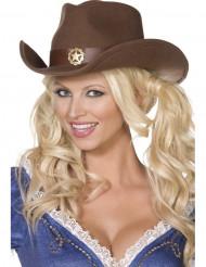 Cappello cowboy sceriffo adulto