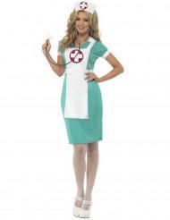 Costume da infermiera verde per donna