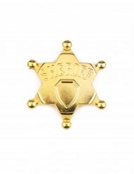 Stella da sceriffo oro per adulto