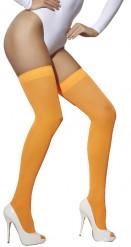Autoreggenti arancio fluo da adulto