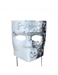 Maschera veneziana quadrata argento