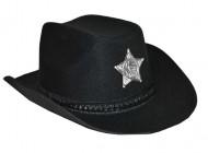 Cappello cowboy nero con stella d